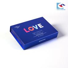 Luxe personnalisé en gros magnétique papier carton boîte cosmétique