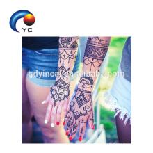 Popular Henna Stencils Mehndi estilo Body Art Body decoração em venda quente