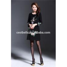 Vestido impreso floral de las mujeres elegantes al aire libre baratas de la fabricación profesional para el otoño