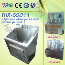 Edelstahl-Scrub-Spüle für eine Person (THR-SS011)