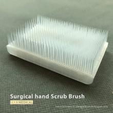 Brosse à récurer chirurgicale pour les mains avec éponge nettoyante pour les ongles
