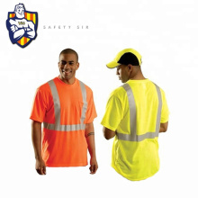 High Visibility Fluorescent Polo t-Shirt With Reflective Tape
