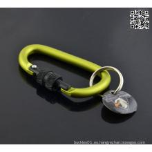 Colred Screw-Lock Metal en forma de D Carabiner Keychain 6 cm
