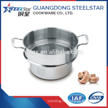 Stainless steel gas food steamer