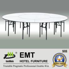 Mesa de comedor grande restaurante con marco fuerte plegable (EMT-FT609)