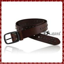 Мужской уникальный кожаный ремень, новейший дизайн кожаный ремень с металлическим шармом