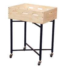 Cremalheira de exposição de madeira