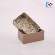 Caja de cartón corrugado de papel kraft de impresión en color cajas de embalaje de jabón en barra de papel