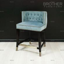 Chinese supplier velvet fabric bar stool chair for bar
