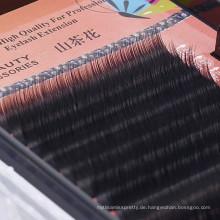 12 Linien pro Fach 0,07 Dicke maschinell hergestellt unterschiedliche Länge Koren synthetische individuelle Wimpernverlängerung