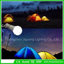 Ampoule portative extérieure de tente de lanterne de l'ampoule 5W LED allumant l'ampoule de secours de randonnée