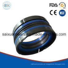 Selo de anel C com pistão elastomérico de duplo efeito