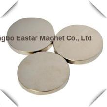 Большой размер диска неодимовый магнит с цинковым покрытием