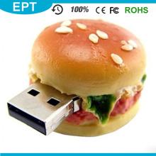 PVC Essen Hamburger Form USB Flash Pen Drive (TG030)
