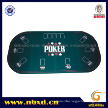 3 Folding Oval Poker Table Top for 9 Person (SY-T10)