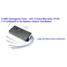Pilote d'urgence LED de secours de batterie 2H