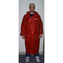 customzied logo GENTLEMEN을위한 PVC LONG RAINCOAT