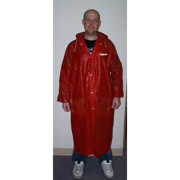 logo personnalisé PVC LONG RAINCOAT FOR GENTLEMEN