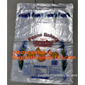 transparent Wicket plastic bag Blockhead plastic bag for food packaging, plastic wicketted bag for food,bakery,vegetable packing