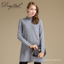 China Big Factory Good Price Turtleneck Pollover Woolen Women Cashmere Sweater With Pocket