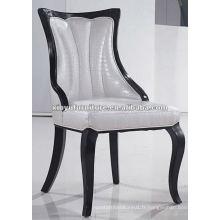Chaise à manger en bois massif tapissé blanc XYD059