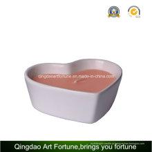 Vela de porcelana cerâmica de forma de coração para decoração do casamento