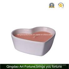 Herzform Keramische Porzellankerze für Hochzeitsdekor