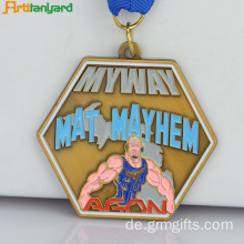 Metall-Medaille mit Malfarbe