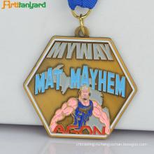 Металлическая медаль с окраской