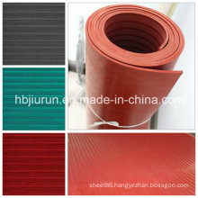 Colorful Insulation Rubber Sheet with Wide and Fine Ribbed