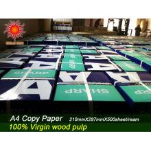moinho de papel de cópia experiência rica 100% papel de cópia de polpa de madeira 80g