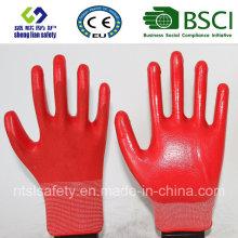 13Г полиэфира оболочки Нитрила покрытием перчатки работы (сл-от 112)