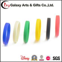 Forma ovalada pulsera de silicona personalizadas pulseras de goma barato para eventos