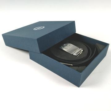 Embalaje de caja de hebilla de cinturón personalizada con logotipo de plata mate