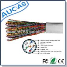 Fabricante telecom cable alimentador cat3 interior cable de cobre en bobina de madera laminado precio bajo