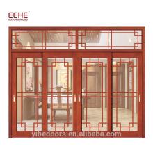 Вилла Балкон Деревянный Дизайн Дверь Стеклянная Деревянная Дверь