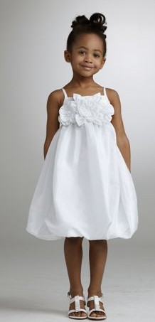 A-line Spaghetti Straps Knee-length Taffeta Zipper Flower Girl Dress