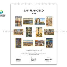 2020 Fashion Custom Printing Embossed Wall Calendar / Stationary