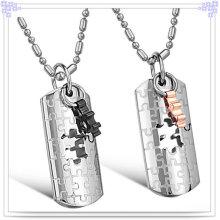 Collier pendentif en acier inoxydable à bijoux fantaisie (NK123)