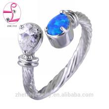 El precio al por mayor del anillo de bodas del ópalo de Arabia Saudita en Tailandia 925 plata esterlina