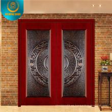Entrada de diseño popular Puerta de seguridad de madera para el mercado de Irán