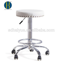 Euro design white PU bar furniture for sale with five-star base
