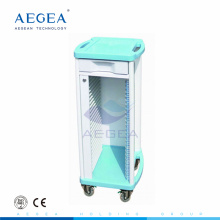 AG-CHT004 Hospital modern plastic single rows records storage medical patient file trolley