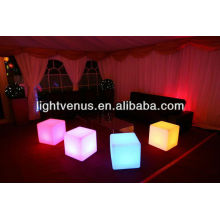30 cm /multi color changing/reasonable price/factory direct sale outdoor waterproof rechargeable led stool