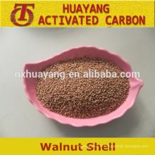 Grain de coquille de noix / poudre comme abrasifs / granule de coquille de noix