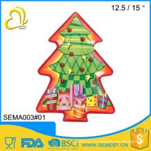 al por mayor placa de forma de árbol de navidad de melamina