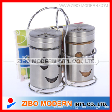 2PCS Set of Spice Bottles With Stainless Steel Rack (GA2002)