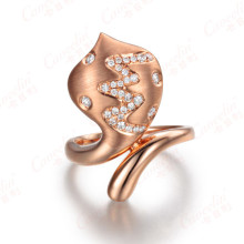 18K Rose Gold Ring with Diamond