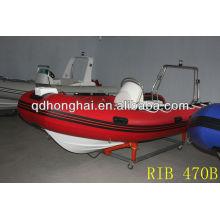 Barco inflable rígido de fibra de vidrio de costilla 470B