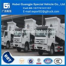 Camión volquete usado HOWO / stock HOWO camión volquete / volquete camión en stock